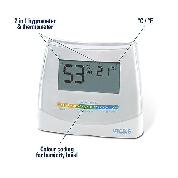 Vicks - V70 - Higrómetro + Termómetro 2 en 1 Vicks: Amazon.es: Salud y cuidado personal