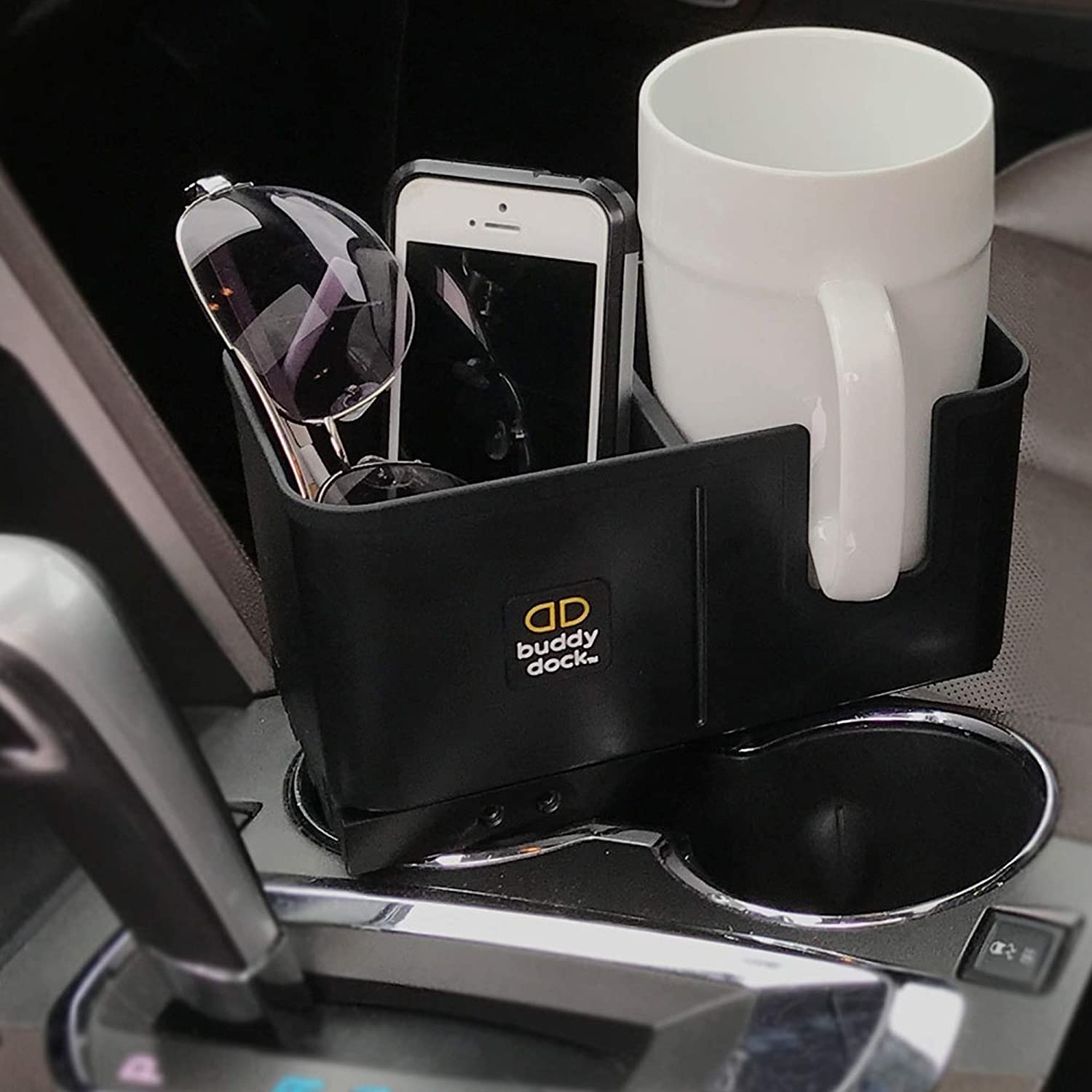 Buddy Dock Car Cup Holder Organizer Fits Any Cup Holder//Vehicle BD-2 Adjustable Sportsman Supply Inc