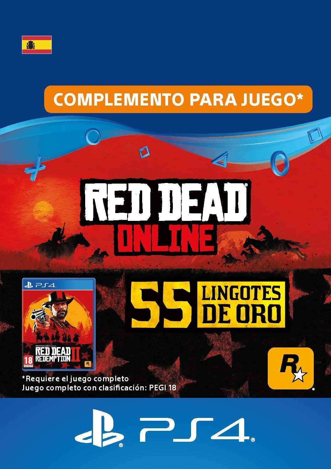 245 lingotes de oro en Red Dead Online - 245 lingotes de oro DLC | Código de descarga de PS4 - Cuenta ES: Amazon.es: Videojuegos