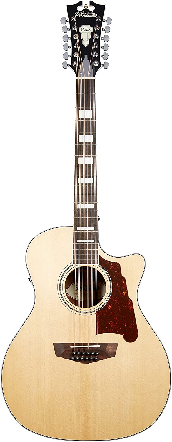 D'Angelico Premier Fulton 12-String Acoustic-Electric Guitar – Natural