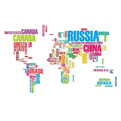 Colourful world map diy removable art vinyl quote wall sticker decal colourful world map diy removable art vinyl quote wall sticker decal mural home room decor by gumiabroncs Image collections