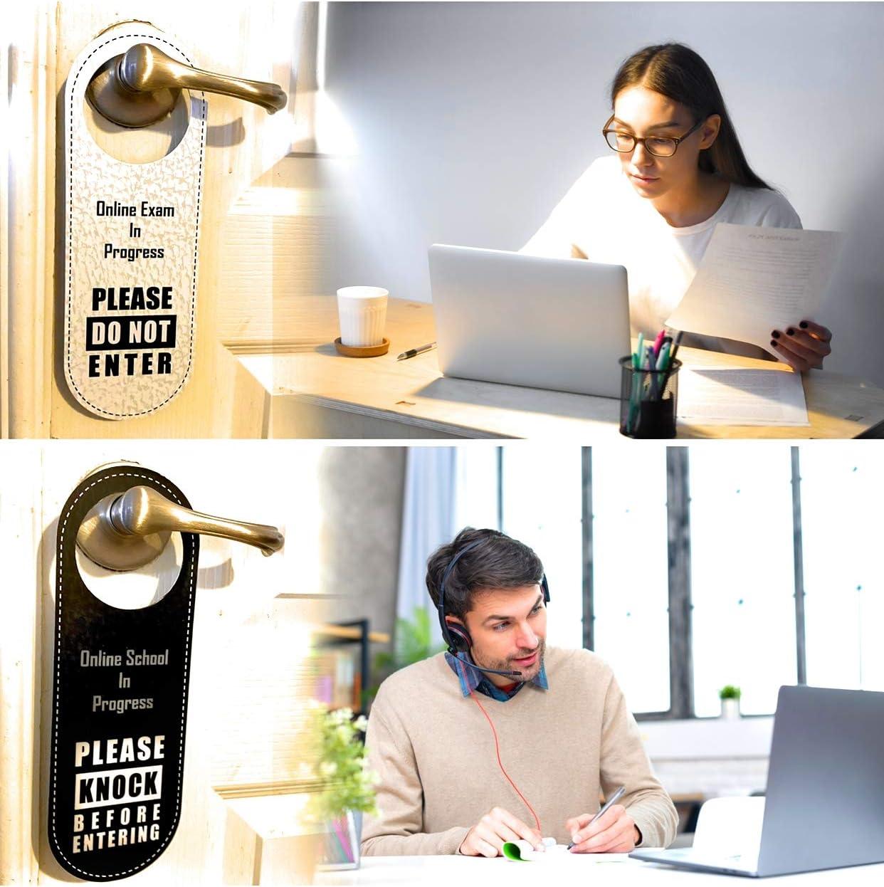 Online School Do not Disturb Door Knob Hanger