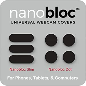 Eyebloc Nanobloc Universal Webcam Covers - Privacy Protection Accessory, No Residue Application, Safe Screen Closure - Dots and Bars, 7 Pieces