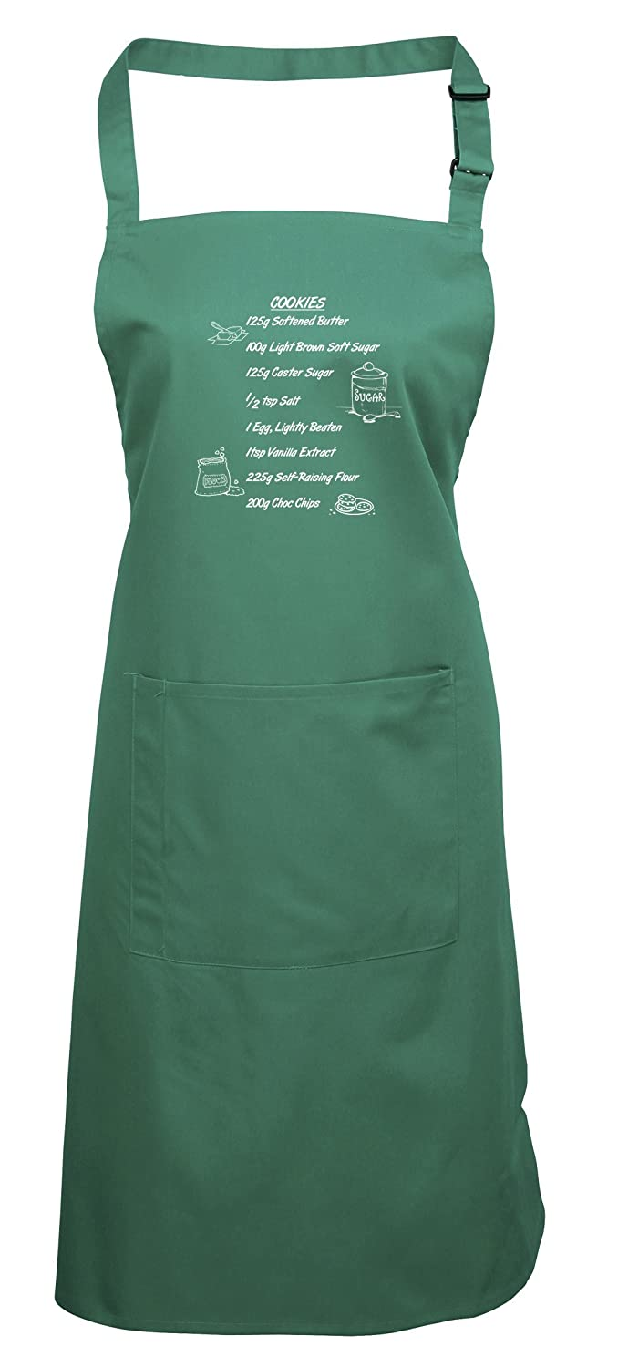 Brand88 - Cookie Recipe, Printed Apron Printed Apron - Apple/Black PR154APPL_PR004B
