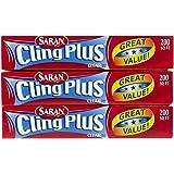 Saran Cling Plus Plastic Wrap - 200 ft - 3 pk