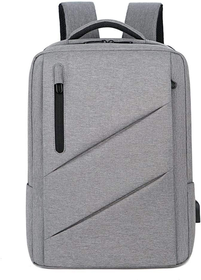 Bolsa de ordenador Estudiante Mochila Bolso de hombro Gran Capacidad Multifuncional Bolsa impermeable, gris claro (Gris) - 020