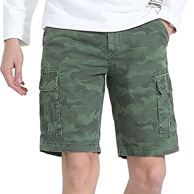 a1dca1b7e0 Men Casual Shorts Cargo Tactical Camo Outdoor Work Military Army Hiking Multiple  Pocket Slim Fit Baggy