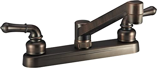 Dura Faucet DF-PK600C-ORB RV Kitchen Faucet with Classical Handles Oil Rubbed Bronze