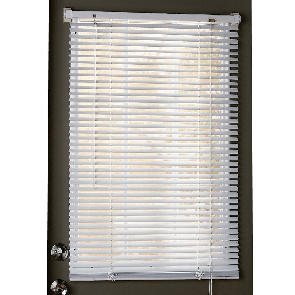 Collections Etc Easy Install Magnetic Blinds, 1'' Mini Quick Snap on/Snap Off, for Steel Metal Door Windows, White, 25'' X 68'' by Collections Etc