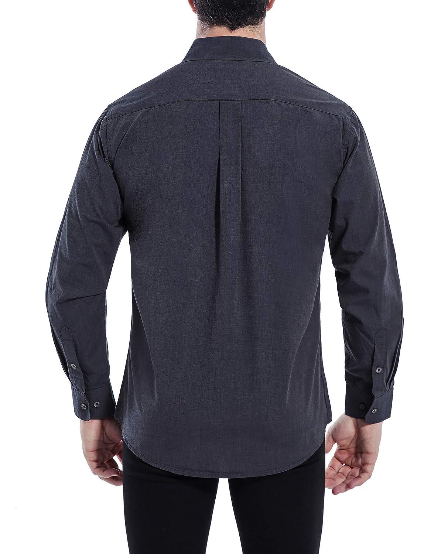 Coevals Club Mens 100/% Cotton Long Sleeve Casual Button Down Shirt