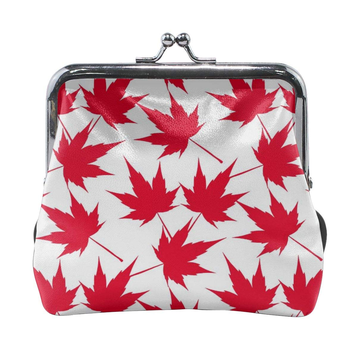 Canadian Maple Leaf Pattern Cute Buckle Coin Purses Buckle Buckle Change Purse Wallets