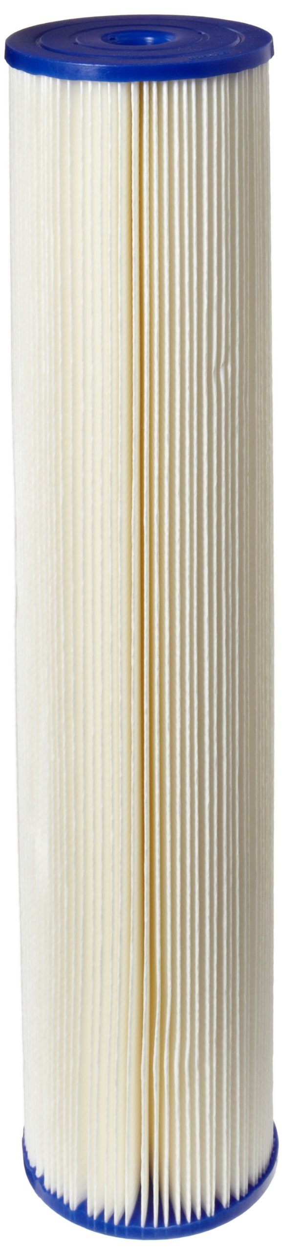 Pentek ECP20-20BB Pleated Cellulose Polyester Filter Cartridge, 20'' x 4-1/2'', 20 Microns by Pentek