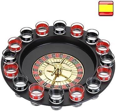 hxc Juego de Ruleta chupitos 16 Vasos Super Oferta Set: Amazon.es: Juguetes y juegos