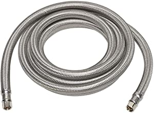 "Kelaro Ice Maker Connector Hose, 10-Foot Stainless Steel - 1/4"" Compression Connections - Lead Free"