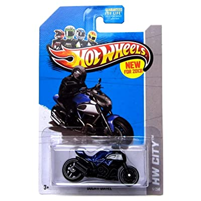 Mattel Hot Wheels 2013 Ducati Diavel Blue HW City 9/250: Toys & Games