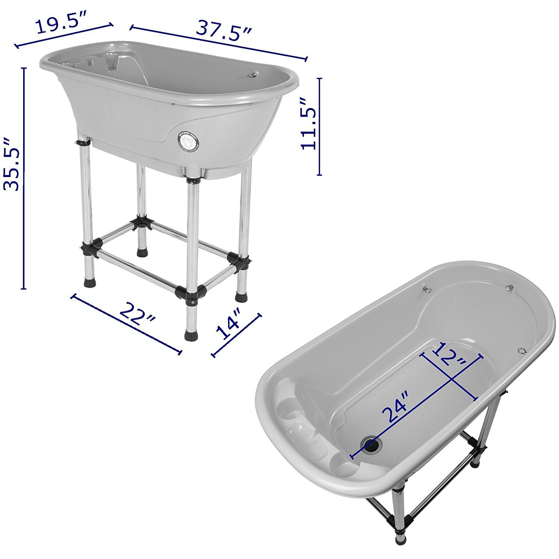 Flying Pig Pet Dog Cat Portable Bath Tub (Royal, 37.5''x19.5''x35.5'')