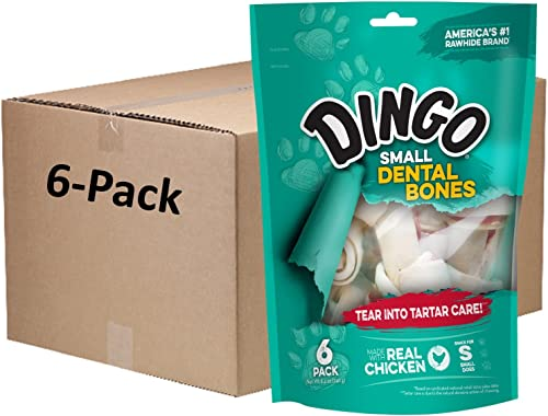 Dingo Dental Bones Dog Chews With Real Chicken Packaging May Vary