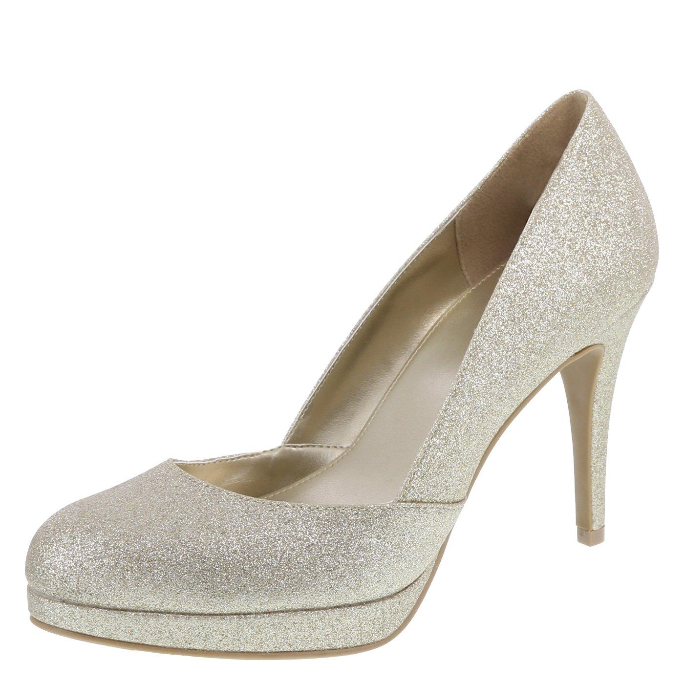 Fioni Gold Women's Jive Platform Heel 7.5 Regular