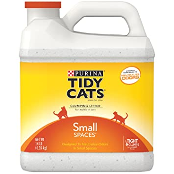 Tidy Cats Cat Litter, Clumping, Small Spaces, 14-Pound Jug: Amazon ...