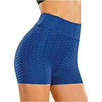 ZSWW Pantalones Cortos de Yoga de Mujer, Cintura Alta Leggins Pantalon Deporte Yoga, Leggings Mujer Fitness Suaves…