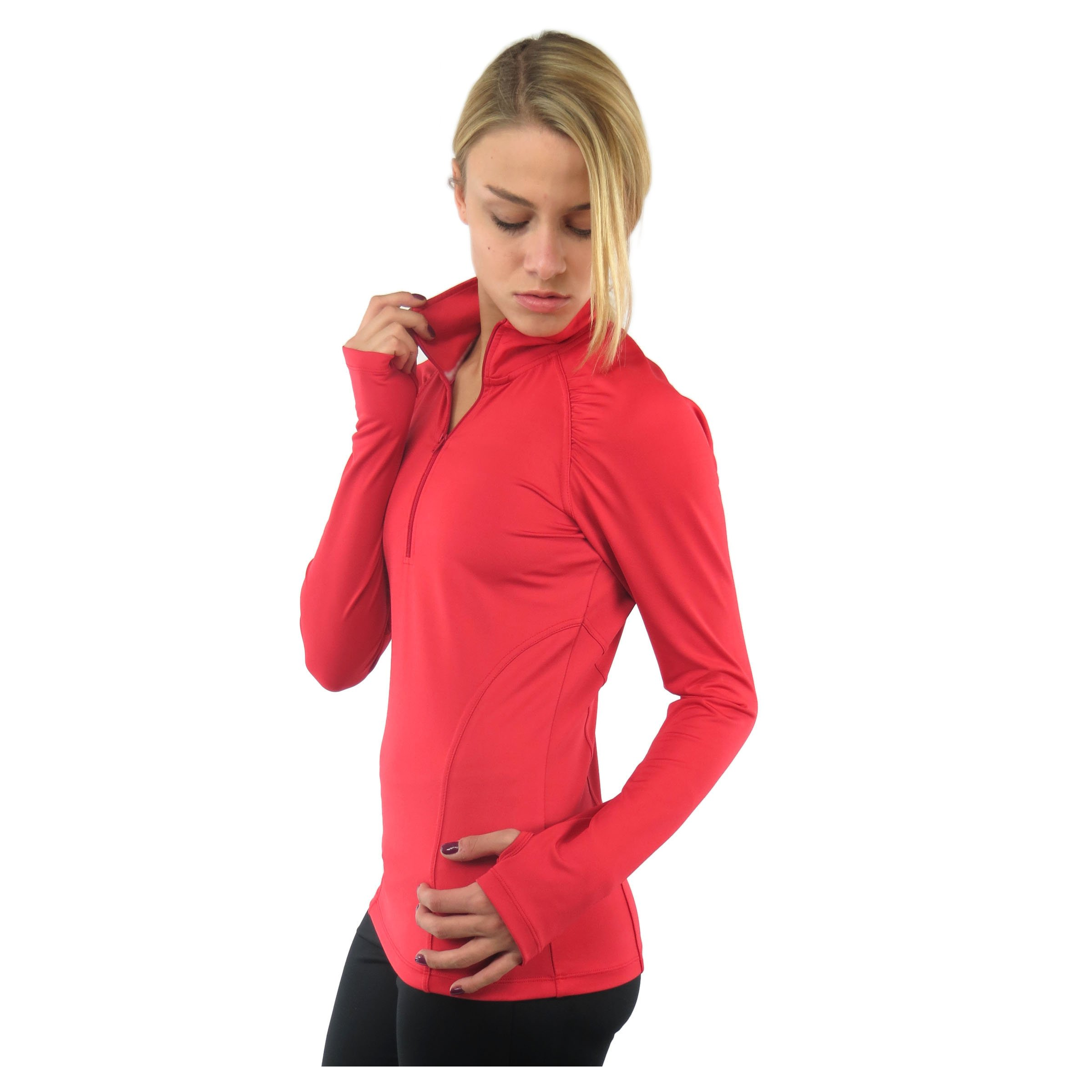 Alex + Abby Women's Essential Pullover Small Cayenne