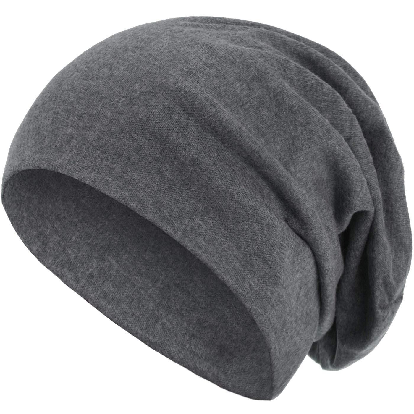 style3 Warme Herbst Winter Slouch Beanie XXL aus atmungsaktivem feinem und leichten Jersey Unisex M/ütze Winterm/ütze Einheitsgr/ö/ße