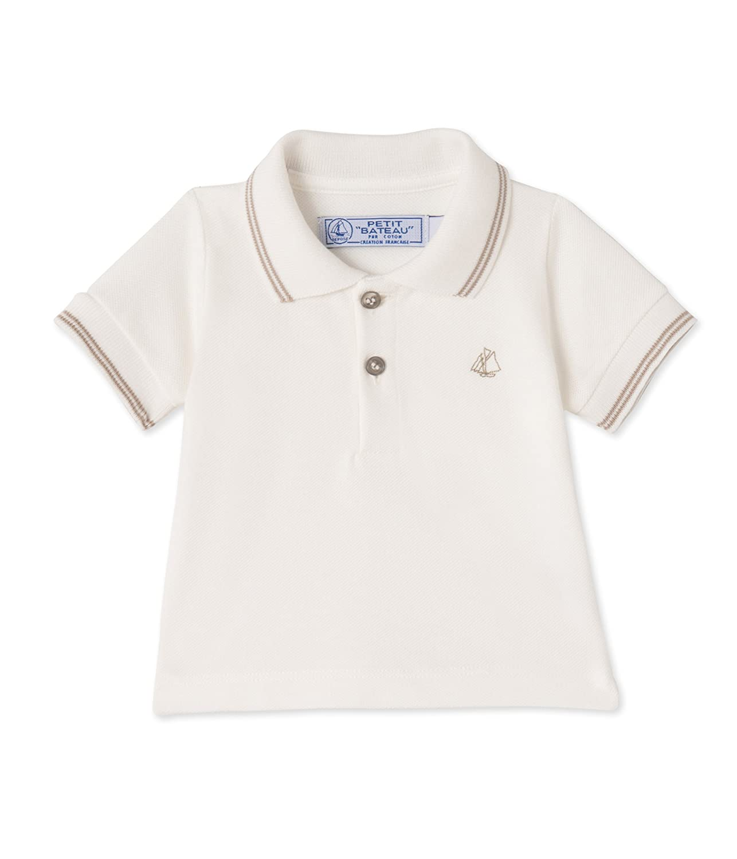 Petit Bateau Baby-Jungen Poloshirt Weiß (Lait 07) 22970