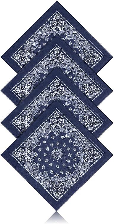 ZWOOS 4 Unisex Bandana, Cuello Multicolor Algodón bandanas, Cabeza Cuello Bufanda, Hombre Cuello Pañuelo Mujer Deportivo pañuelos Pañuelos: Amazon.es: Ropa y accesorios