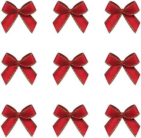 100Pcs Satin Ribbon Bowtie Bowknots For Scrapbooking DIY Wedding Decoration