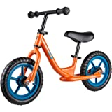 Albott Kids Balance Bike Toddler Bike Footrest Lightweight Adjustable Seat Handlebar Height 12 Inch Inflation Free EVA Tires