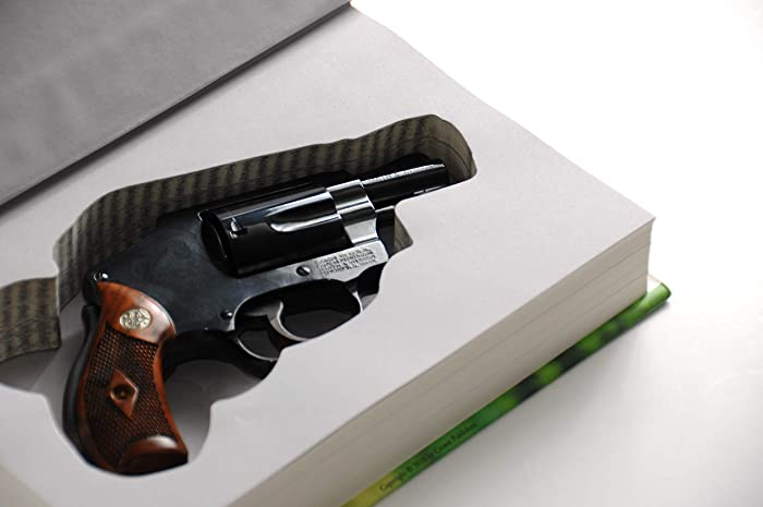 Revolver Concealed Gun Storage - Genuine Book Safe - Home Car - Diversion  Hidden Pistol Case for Snubnosed