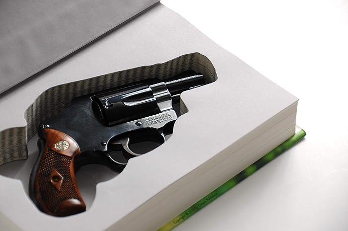 Revolver Concealed Gun Storage - Genuine Book Safe - Home Car - Diversion  Hidden Pistol Case for Snubnosed