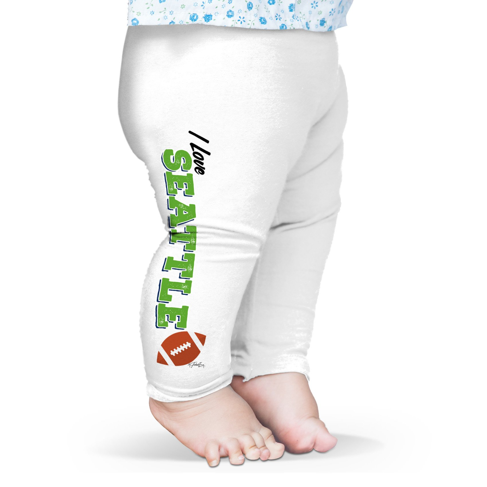 Twisted Envy Baby I Love Seattle American Football Leggings Trousers 3 - 6 Months White