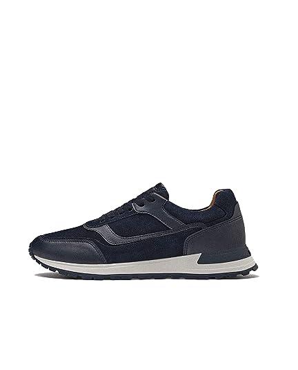 Massimo Dutti - Zapatillas de algodón para Hombre Azul Azul, Color Azul, Talla 44 EU: Amazon.es: Zapatos y complementos