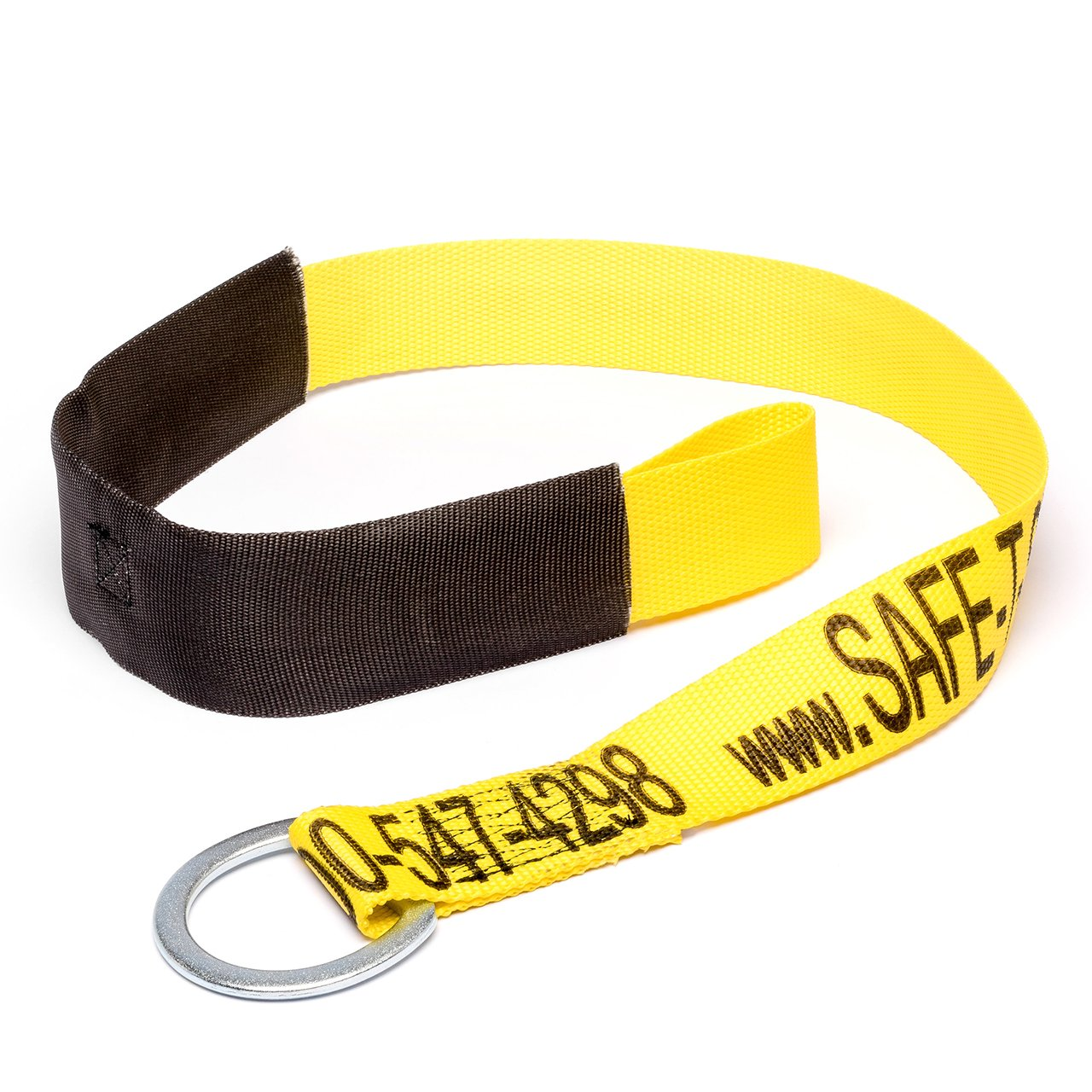 Cross Arm Straps - Fall Protection, Industrial Construction, Tie-Down Concrete Anchors, 4-Feet, Disposable Premium High Rise Safety Straps, Protective Sheathing, D-Ring to Loop Ends