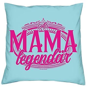 1c53330c73 Kissen zum Muttertag: Als Mama legendär Muttertagsgeschenk Idee Kopfkissen,  Zierkissen, Sofakissen in Größe