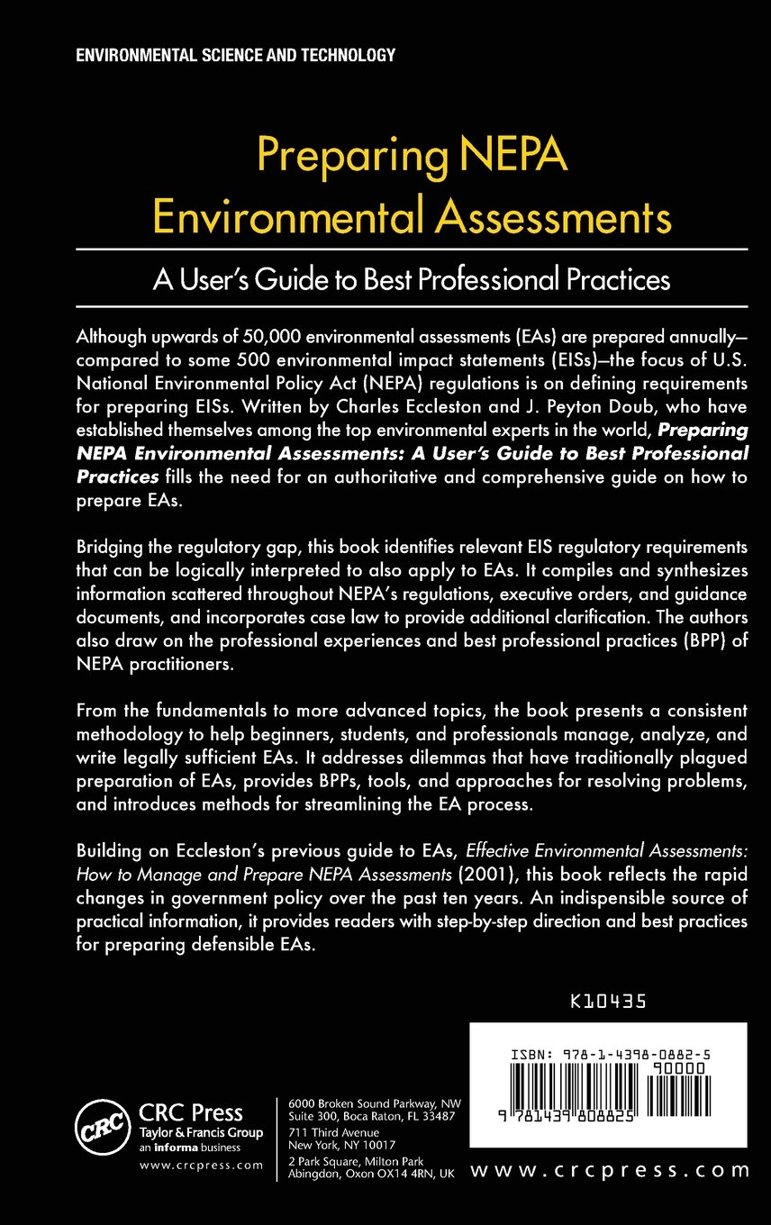 Preparing NEPA Environmental Assessments: A User's Guide to Best Professional Practices