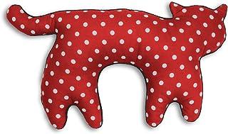 Leschi Nackenkissen / 36797 / Die Katze Feline/stehend/groß (Für Reisen in Auto, Flugzeug, Bus und Bahn) Farbe: Polka dot rot/Mitternacht