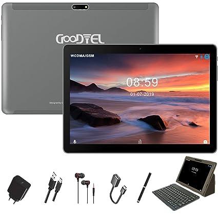 GOODTEL Tablet 10 Pulgadas Full HD Android 8.1 Tablet Quad-Core 4G LTE, 4GB de RAM, 64GB de Memoria Interna, Escalable 128GB, Dual SIM Cámara Dual ...