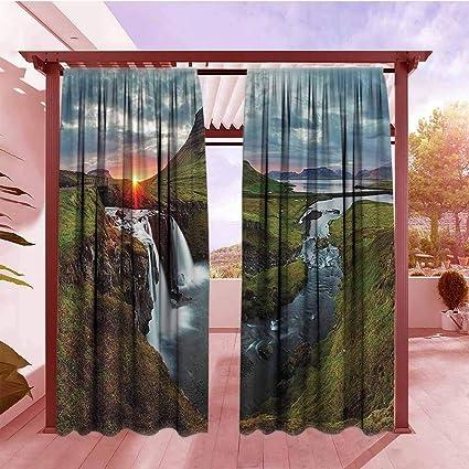 Amazon.com : Balcony Curtains Apartment Decor Waterfall ...