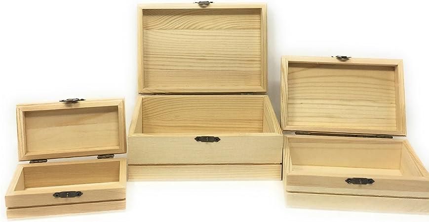 C1 Cajas de Madera Conjunto de 3 rectangulares: Amazon.es: Hogar