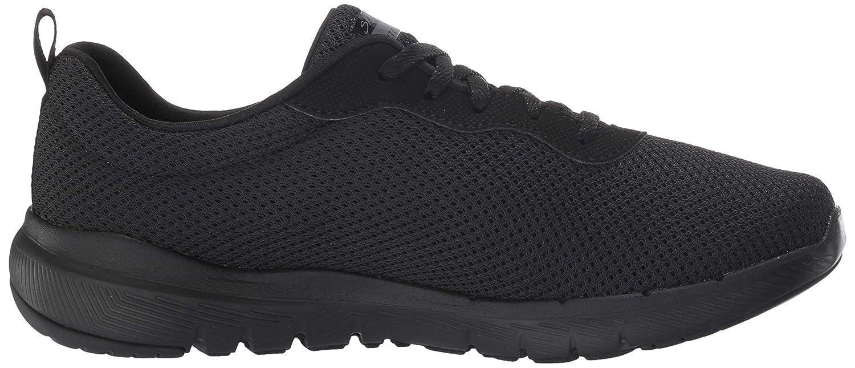 Skechers Damen Flex Appeal 3.0 Sneaker, hot pink/schwarz Schwarz (Black 13070-bbk)