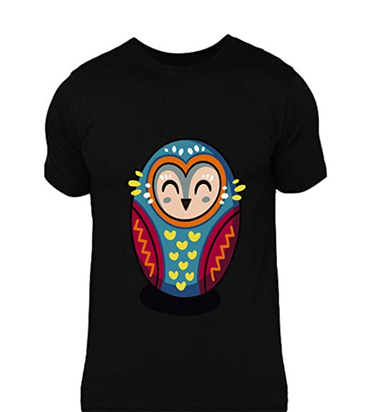 cc3c1bc10 lazyduke | Cute Bird Vector Art Design On Black T-Shirt | 100% Cotton |  Round Neck T-Shirt: Amazon.in: Clothing & Accessories