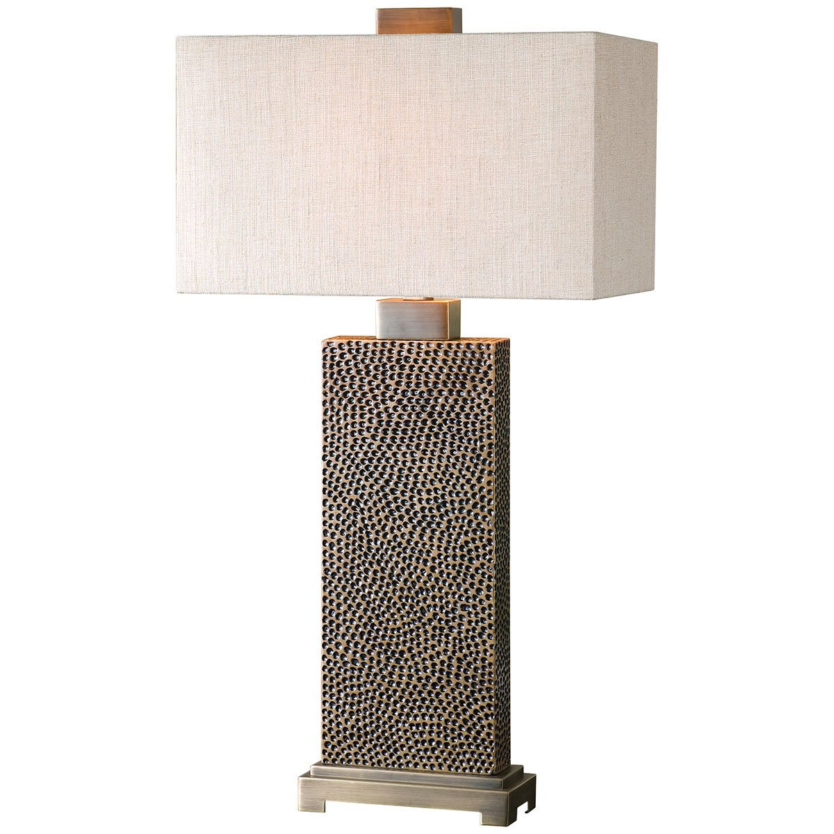 Amazon.com: Uttermost 26938 1 Canfield Coffee Table Lamp, Bronze: Home U0026  Kitchen