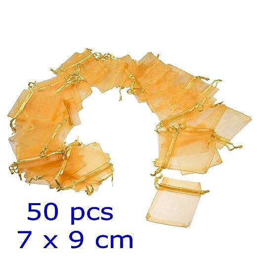 99 opinioni per JZK® 50 x Giallo 7x9cm sacchetti sacchettini riso portariso portaconfetti