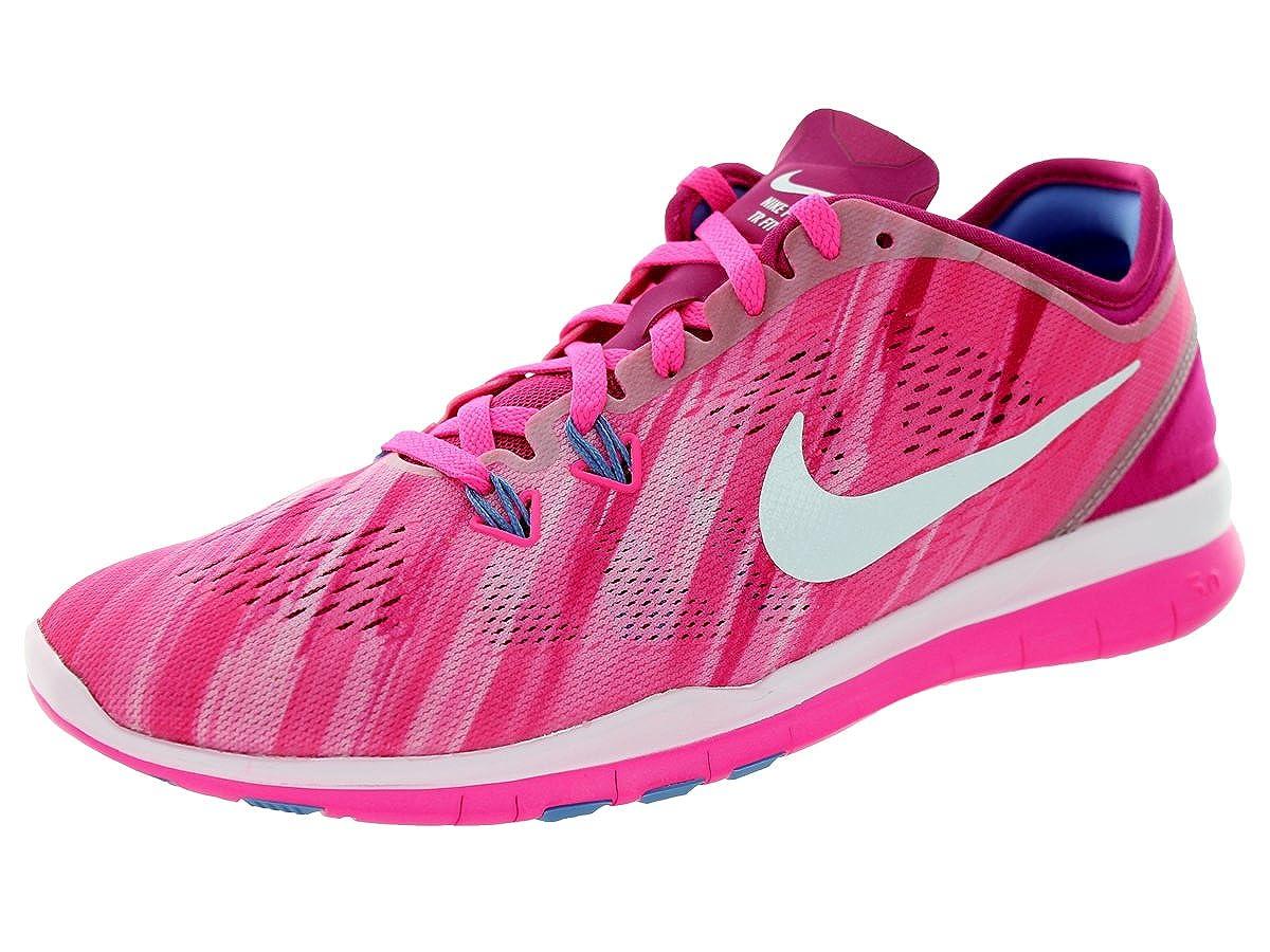 Nike Womens Free 5. 0 TR FIT PRT Running Shoes Pink Powder