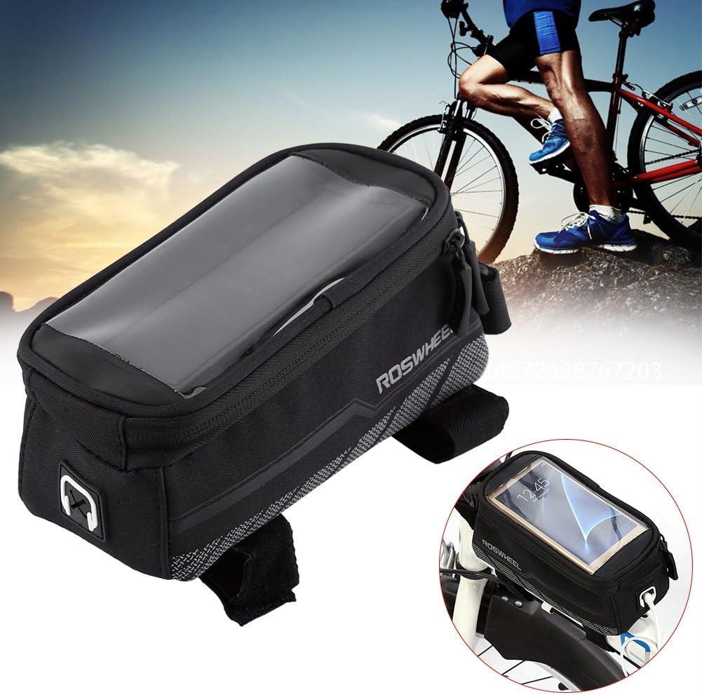 Bike Bag Bicycle Panniers Front Top Tube Pannier Bike Frame Storage Saddle Bag Cycling Handlebar Pouch Size : L