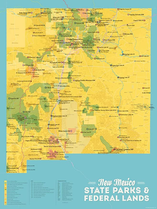 Amazon.com: Best Maps Ever New Mexico State Parks & Federal ...