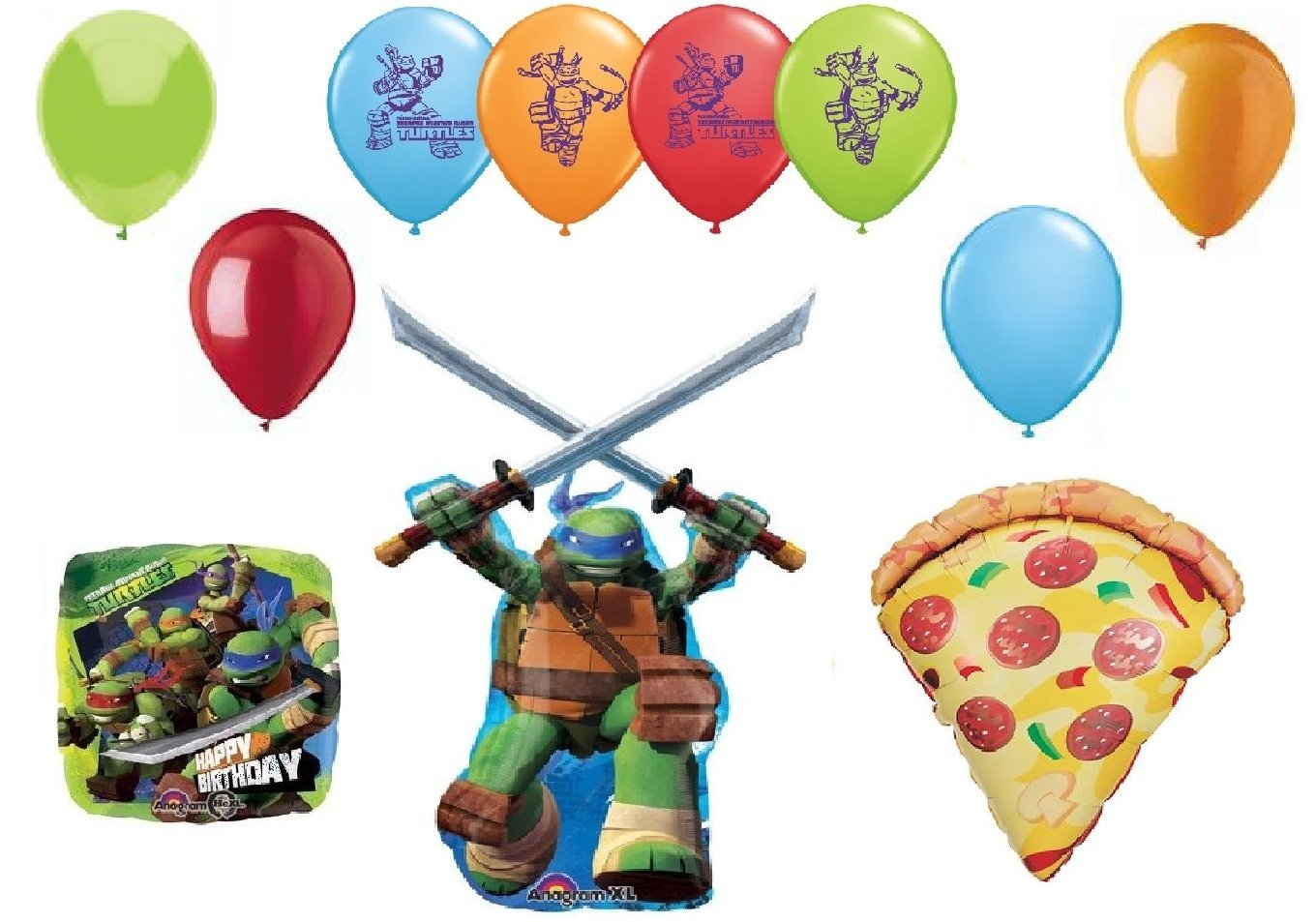 Amazon.com: Teenage Mutant Ninja Turtles y pizza Fiesta de ...