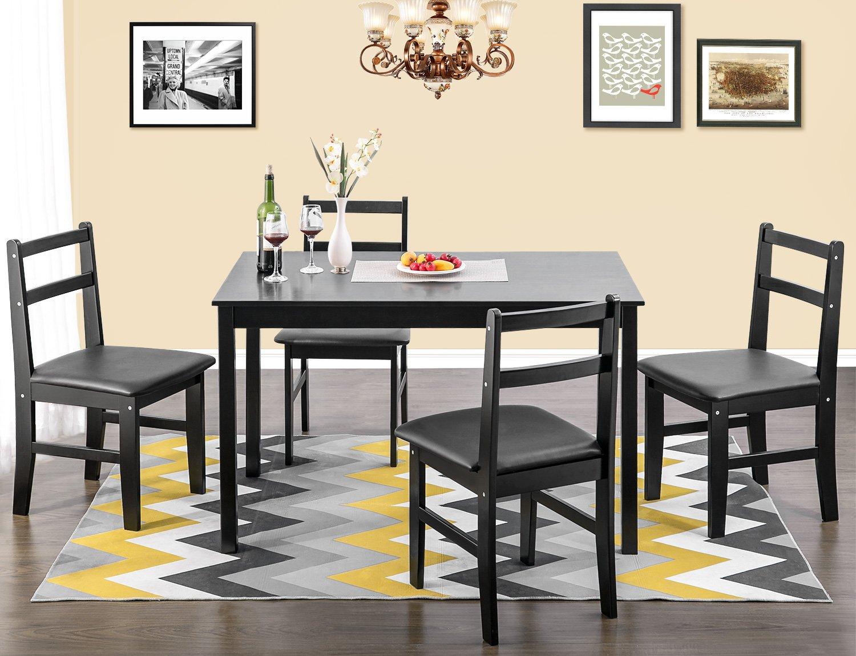 Merax 47'' Rectangular Dinning Table in Dark Espresso 100% New Zealand Pine Wood Finish by Merax (Image #4)